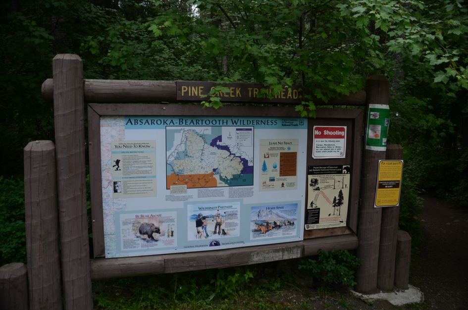 Pinecreek trailhead